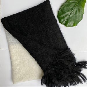 Oversized Blanket scarf colourblock